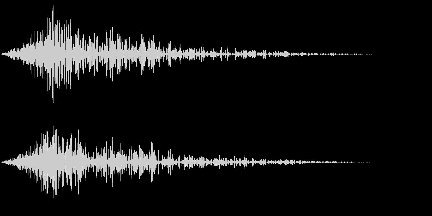 ホラー系アタック音138の未再生の波形