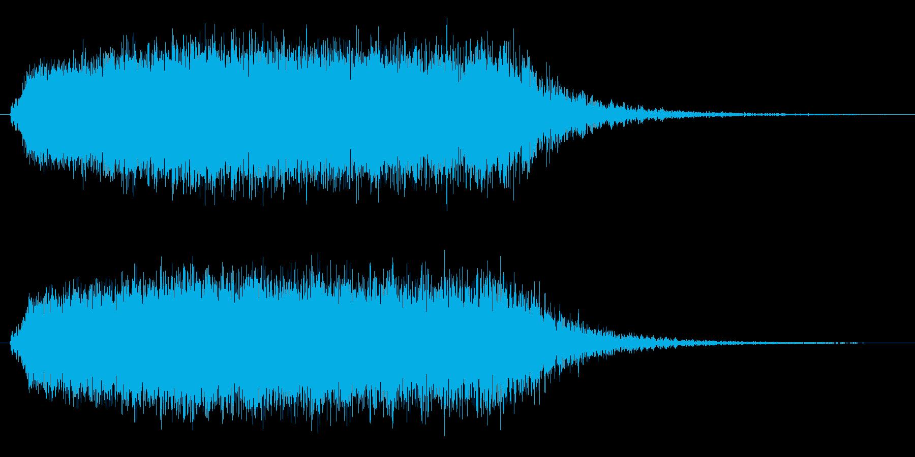 モンスターの鳴き声(グギャー1)の再生済みの波形