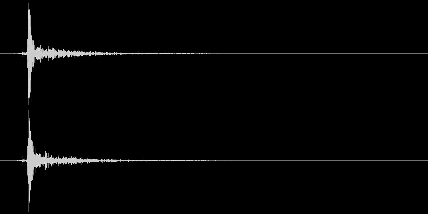 鍵をかける 施錠解錠A カチッの未再生の波形