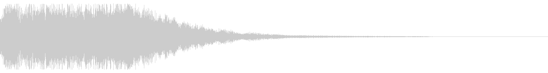 チャイム(電子音)の未再生の波形