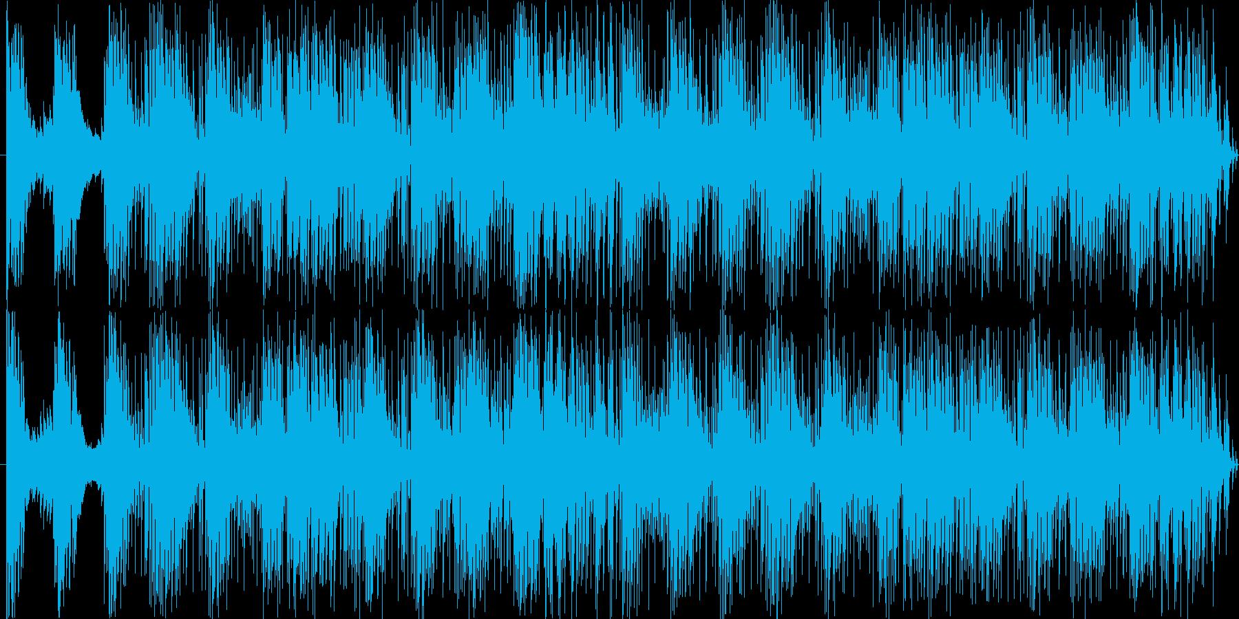 モノクロの渋めの写真のようなムードの再生済みの波形