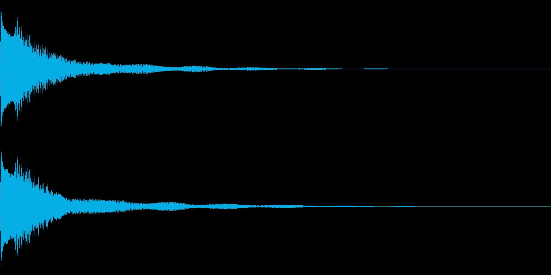 キラン!なアタック音6の再生済みの波形