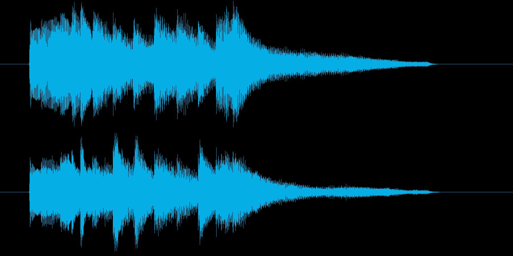 平凡なジングルです。の再生済みの波形