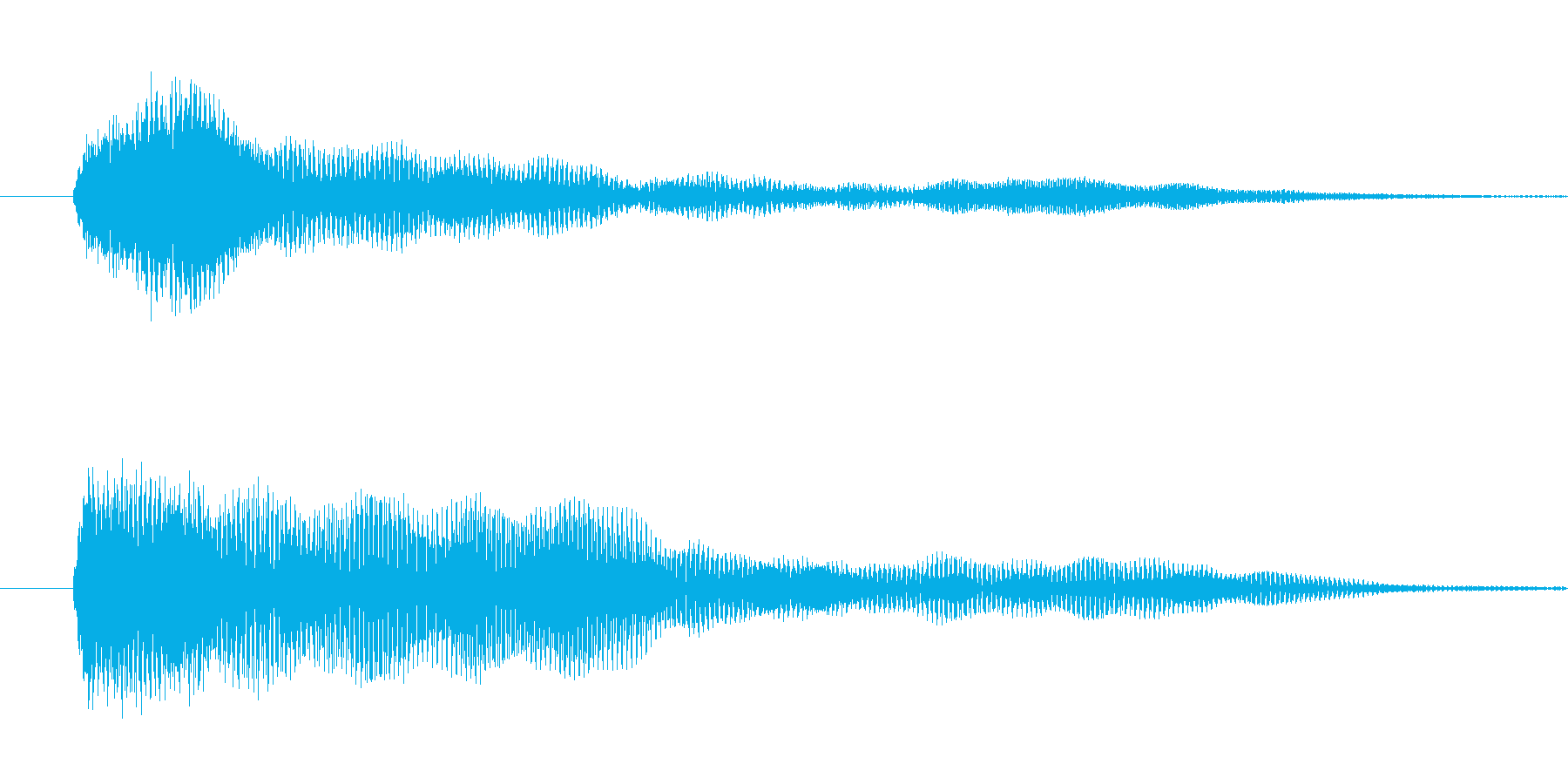 ホラー系 システム音の再生済みの波形