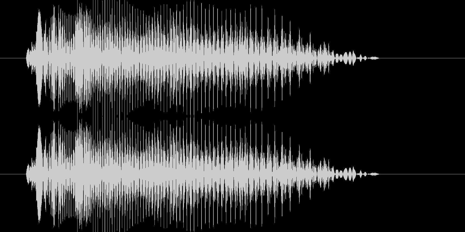 キュウン(ターンテーブル)の未再生の波形