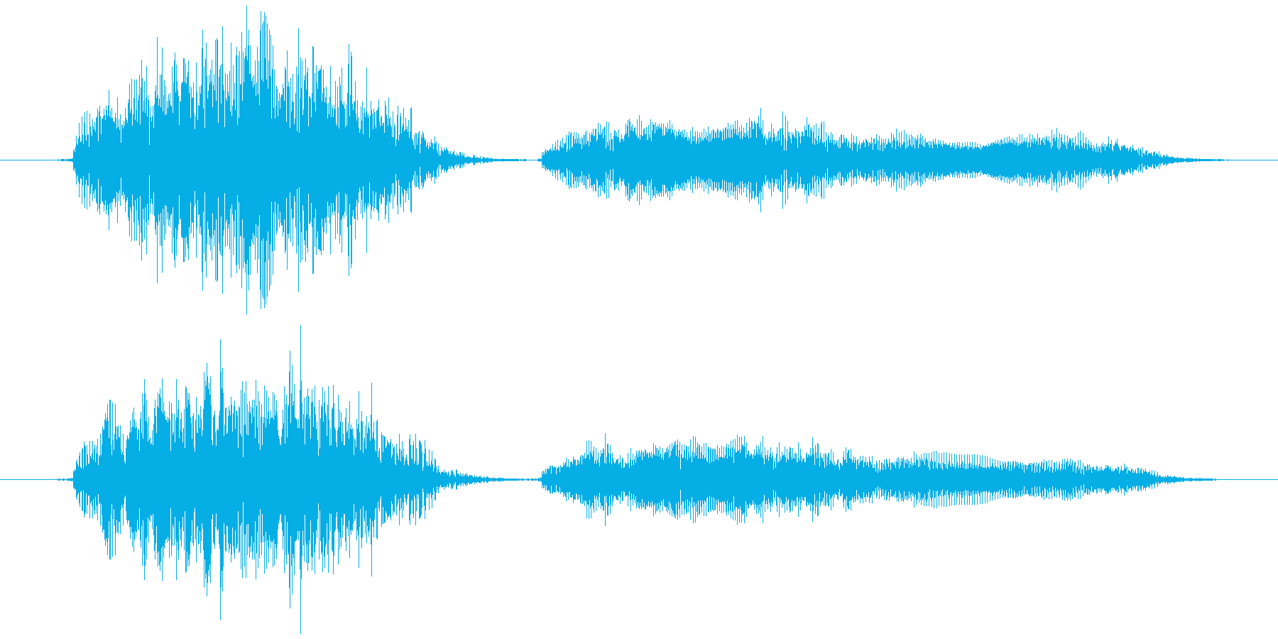 おもちゃの笛 (押す、潰す) ピィプゥ!の再生済みの波形