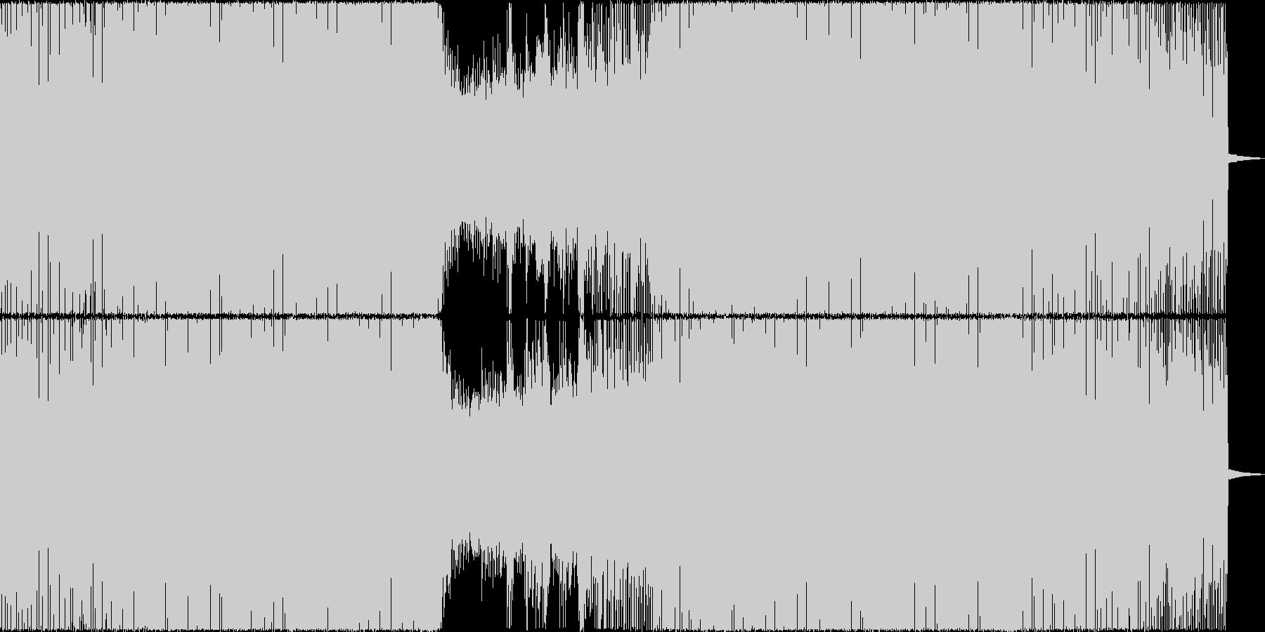 再出発シーン向けなトランス・ハウスですの未再生の波形