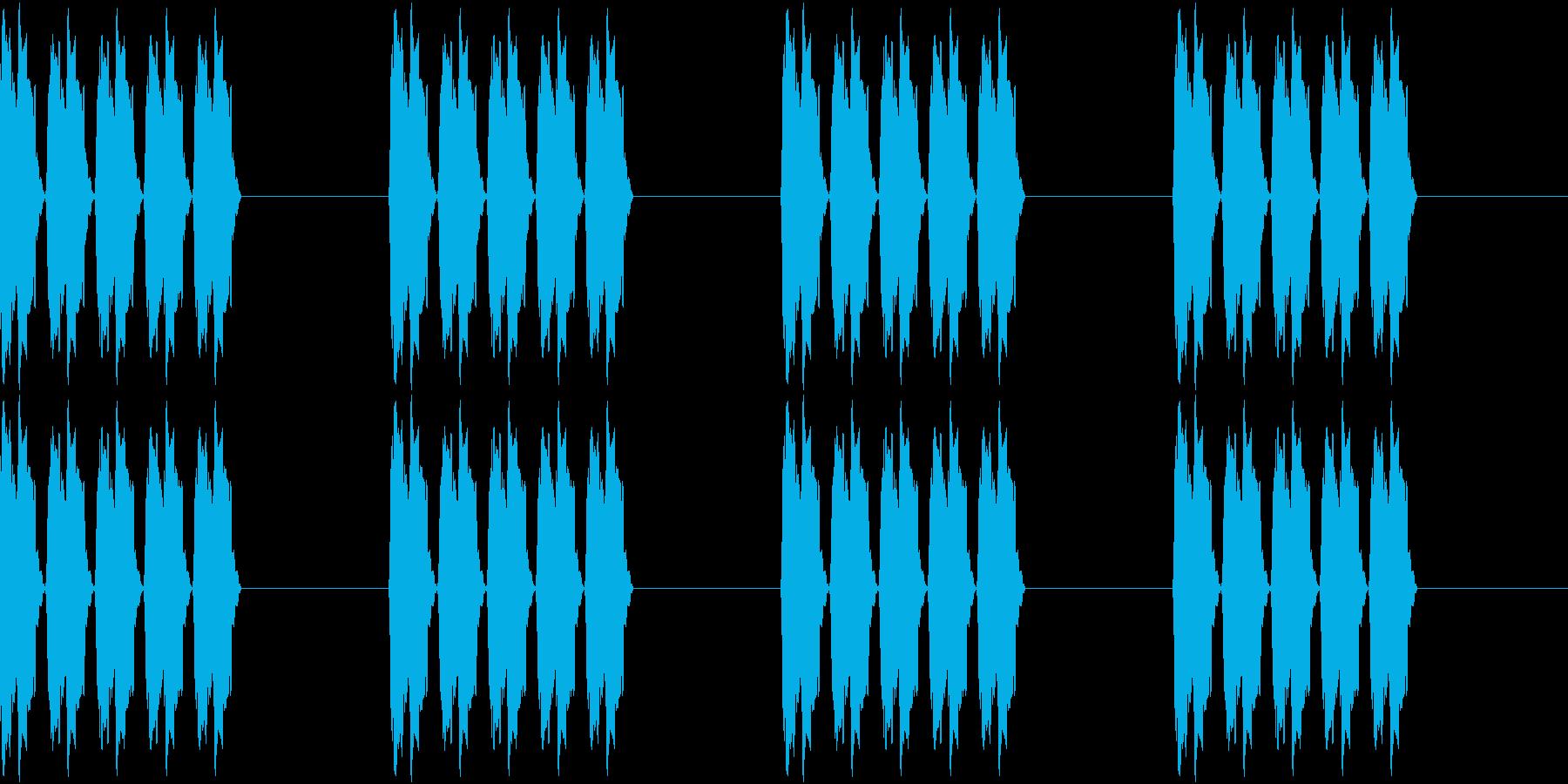 アラーム 時報 時計 着信音 ピピピピの再生済みの波形