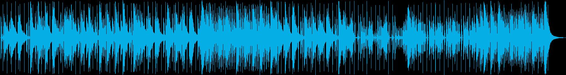 ニュース番組などのテクノ系BGMの再生済みの波形