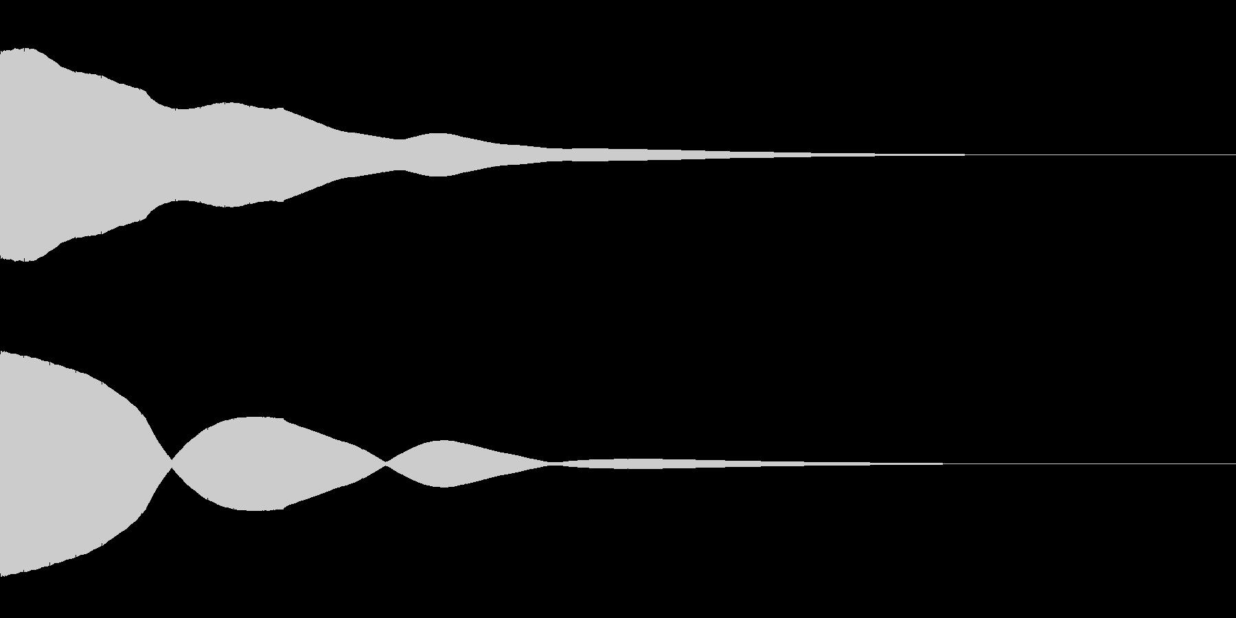 決定/ボタン押下音(ピッ)の未再生の波形