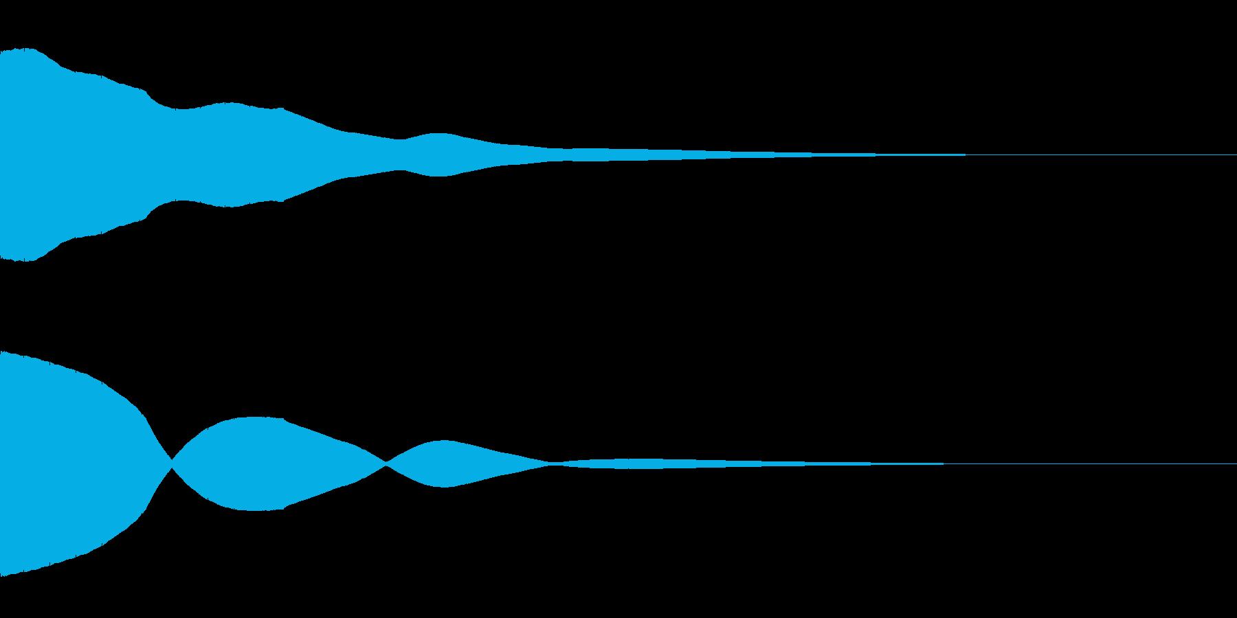 決定/ボタン押下音(ピッ)の再生済みの波形