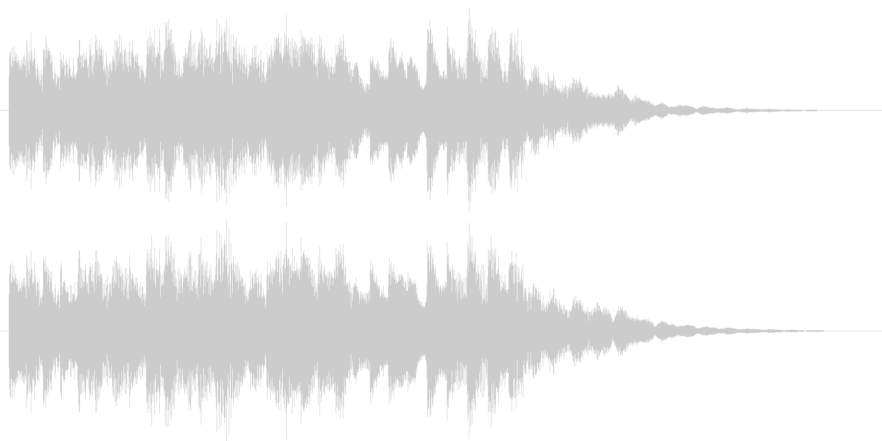 柔らかなコールチャイムの未再生の波形
