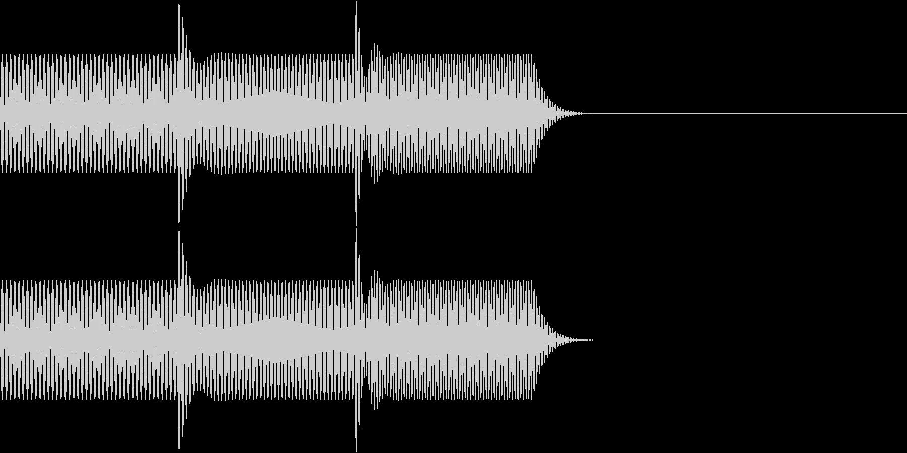 ボタン・操作音3の未再生の波形