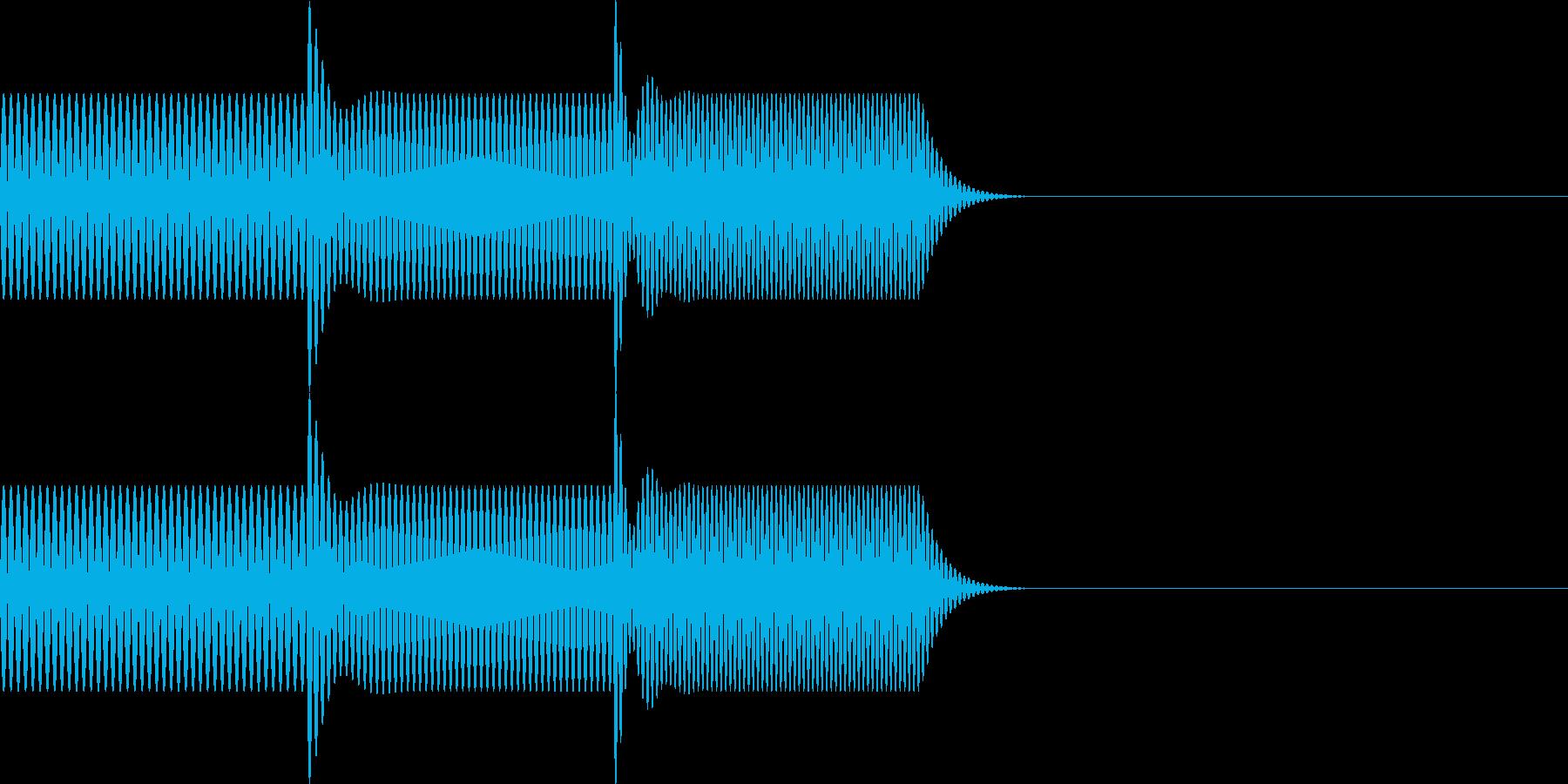 ボタン・操作音3の再生済みの波形