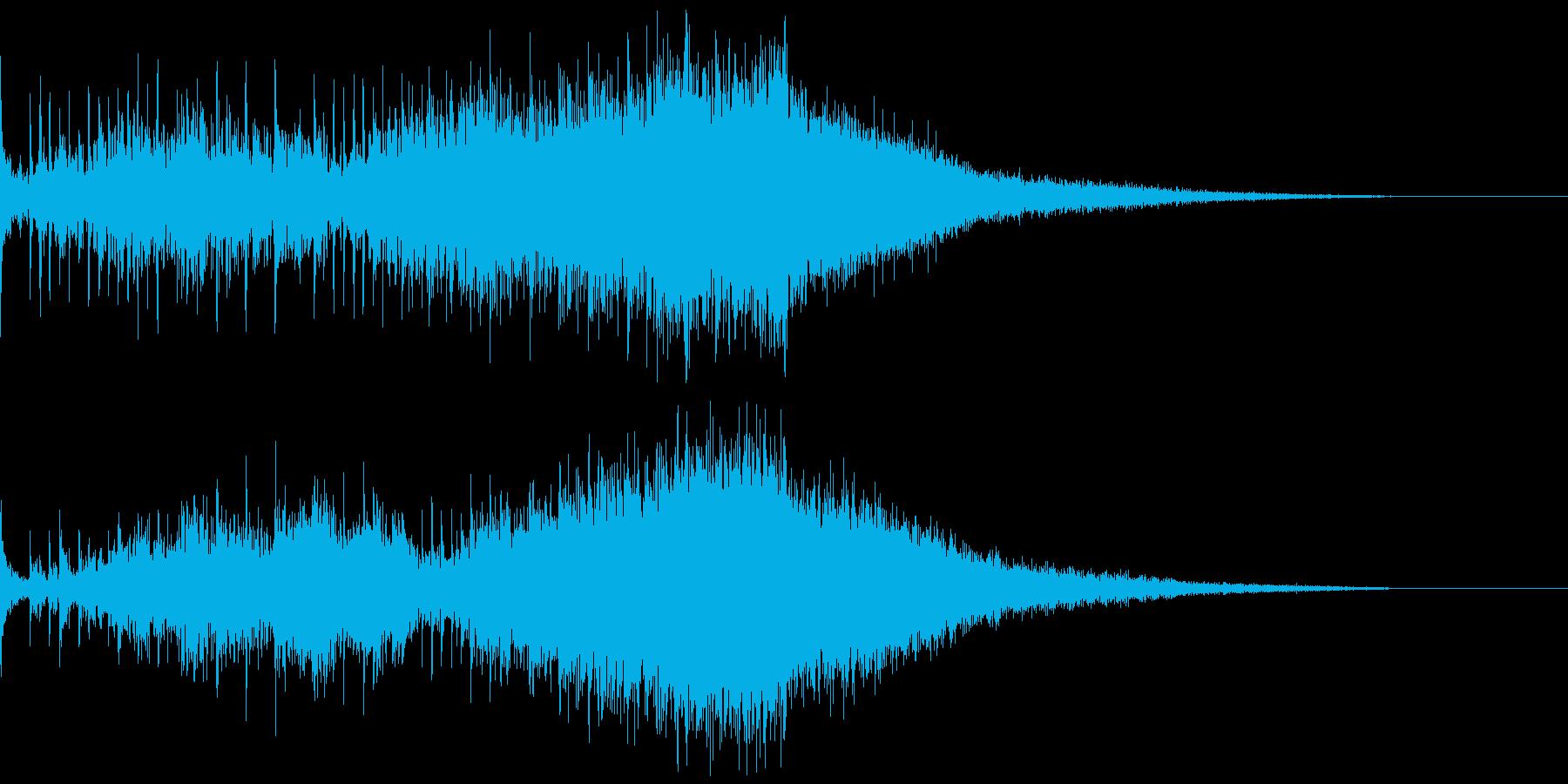 高揚感のあるアイキャッチの再生済みの波形