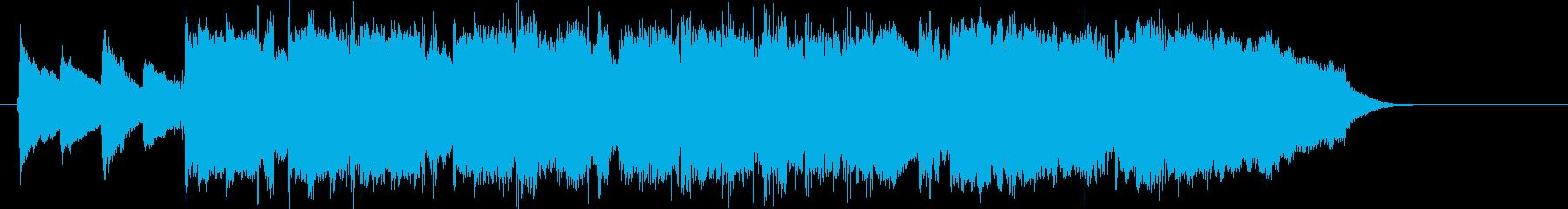 爽やかで懐かしいメローなピアノジングルの再生済みの波形