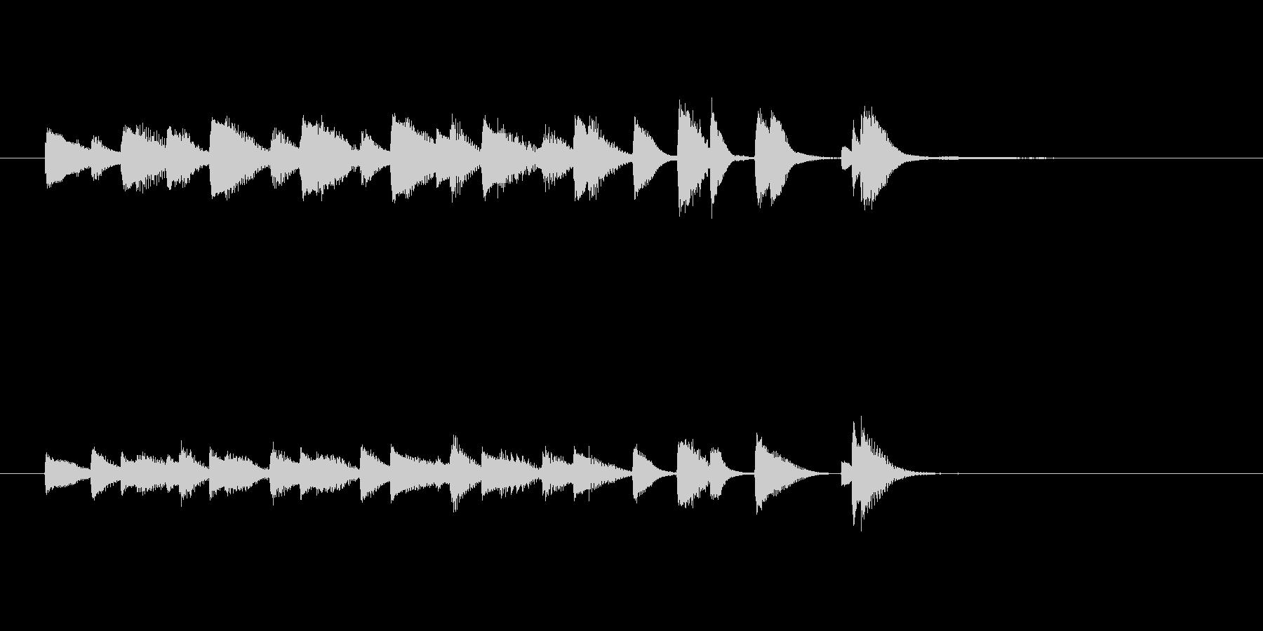 ジャズピアノ、軽快、おどけた、ジングル1の未再生の波形