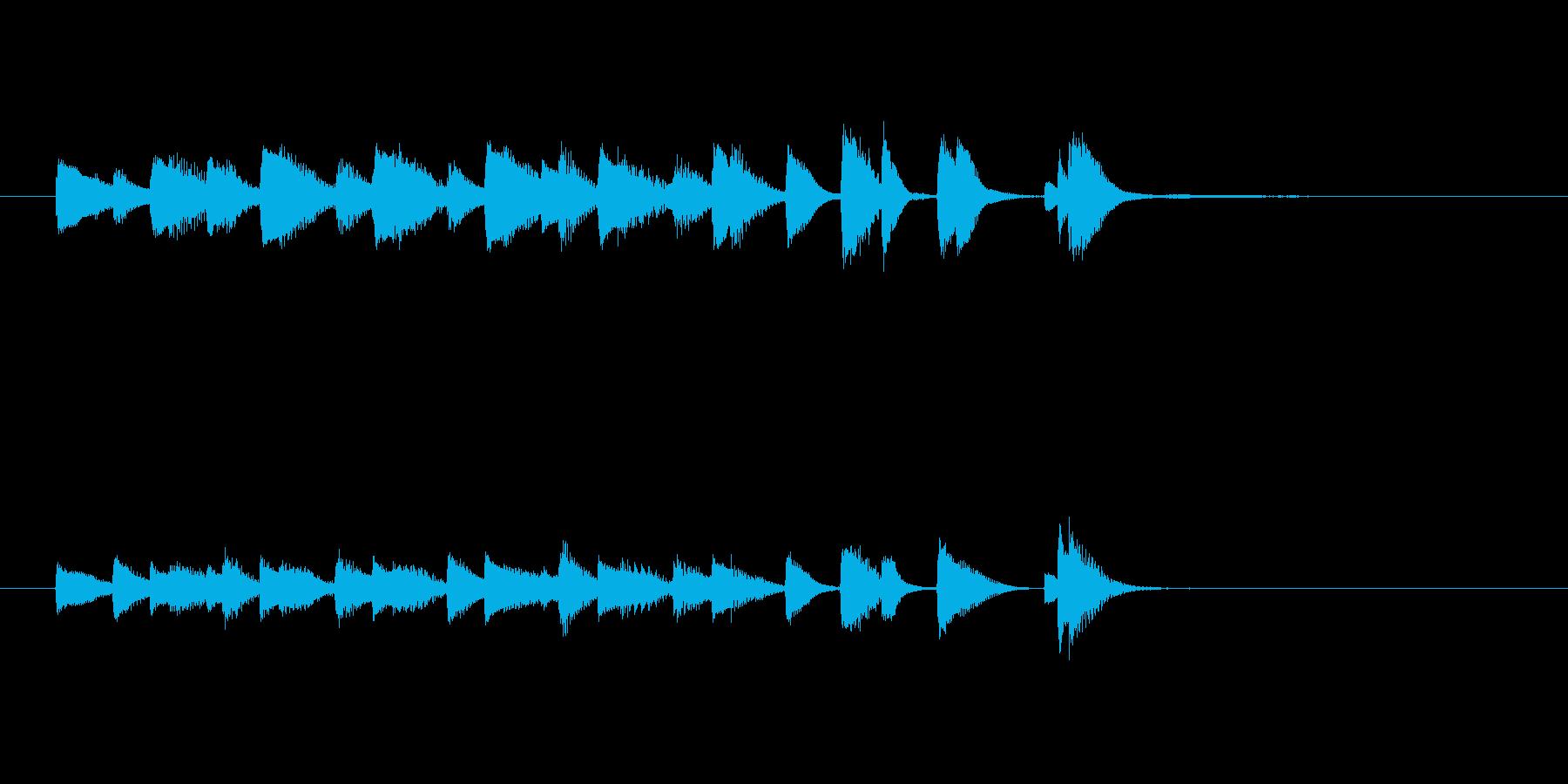 ジャズピアノ、軽快、おどけた、ジングル1の再生済みの波形