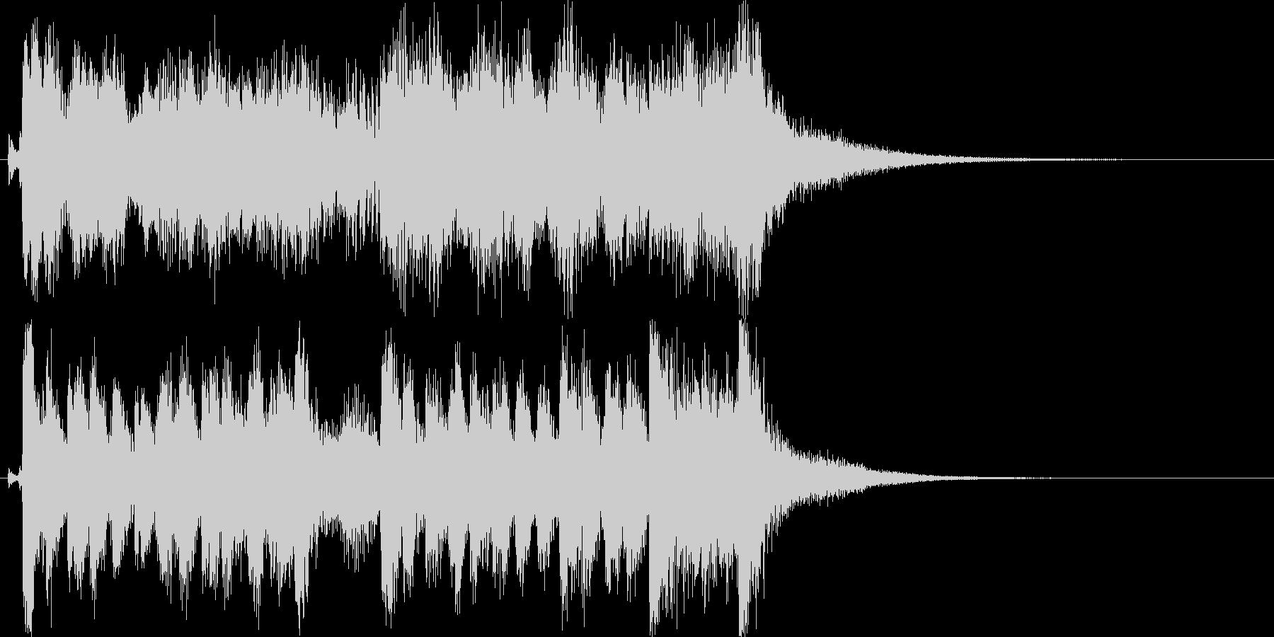 ハッピーコミカル軽快なオーケストラロゴ♪の未再生の波形