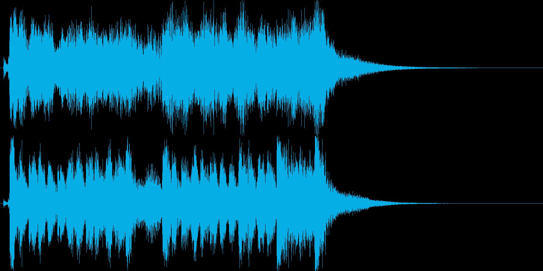 ハッピーコミカル軽快なオーケストラロゴ♪の再生済みの波形