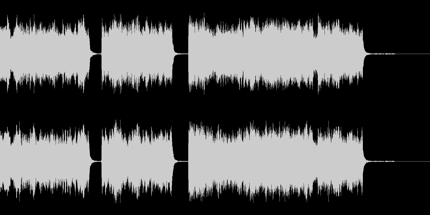 ハーディガーディ弾語りの短い民族風BGMの未再生の波形