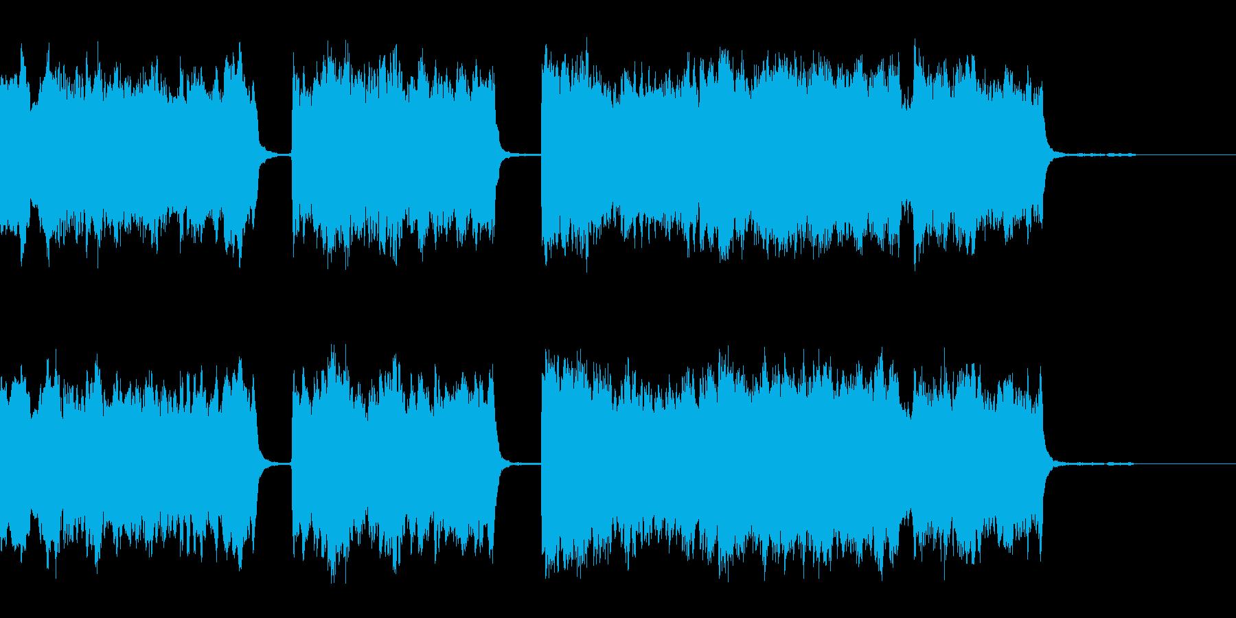 ハーディガーディ弾語りの短い民族風BGMの再生済みの波形