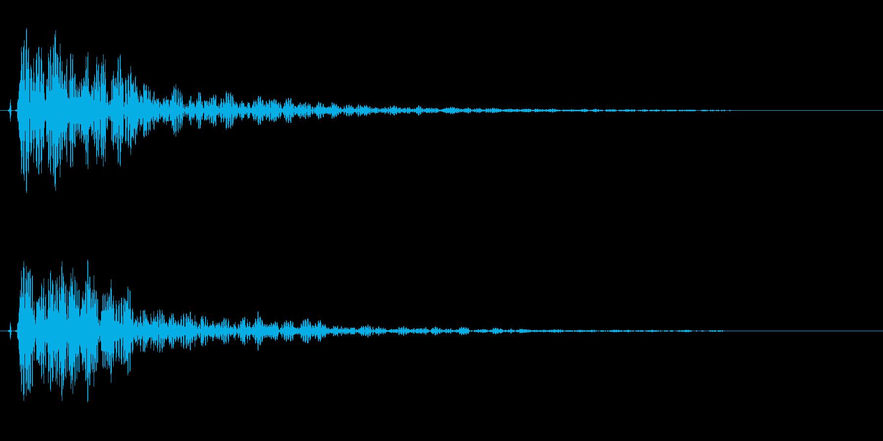 和太鼓。「ドドン」の再生済みの波形