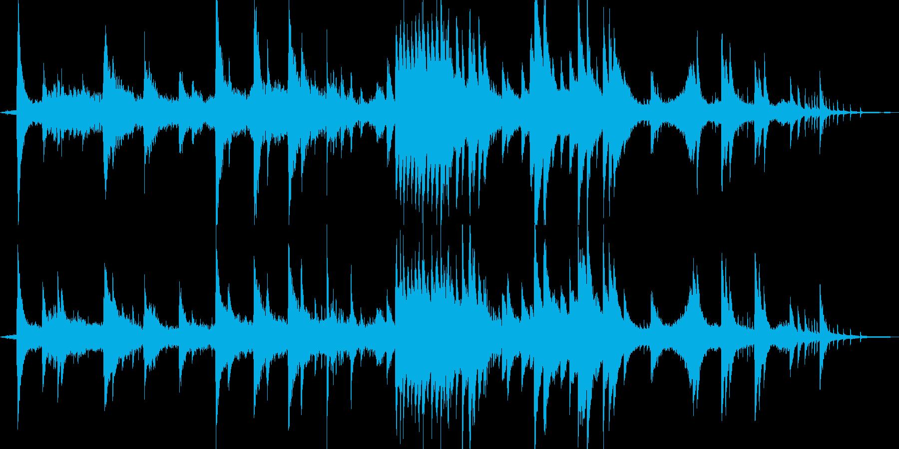 神秘的で綺麗な自然の中にいるようなBGMの再生済みの波形