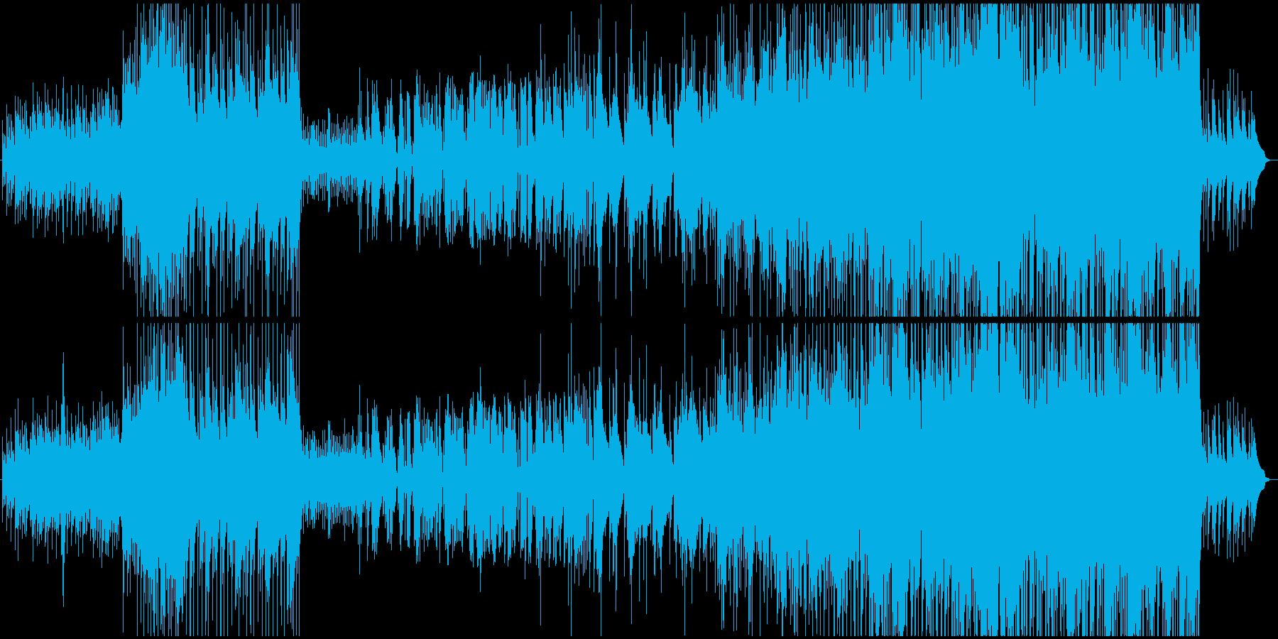 戦の前の武士の心境を表した変拍子ジャズの再生済みの波形