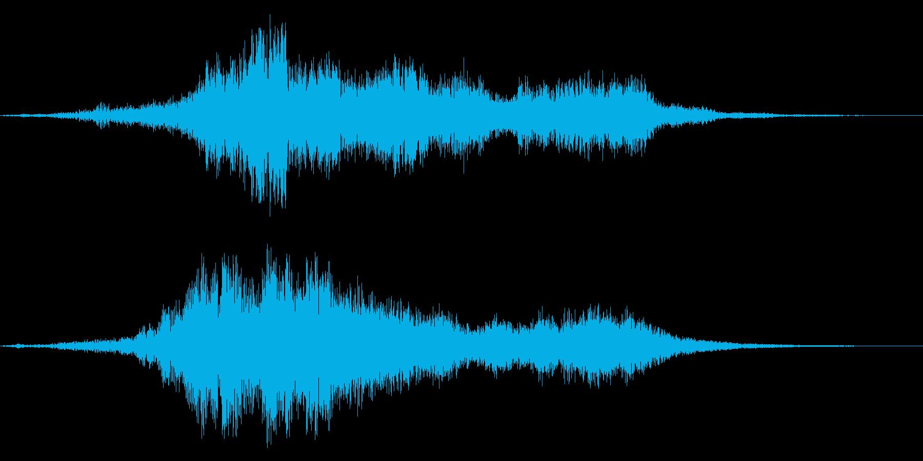 透明感溢れる、美しい起動音の再生済みの波形