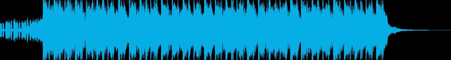 爽やか、おしゃれ、EDM系CM曲15秒の再生済みの波形