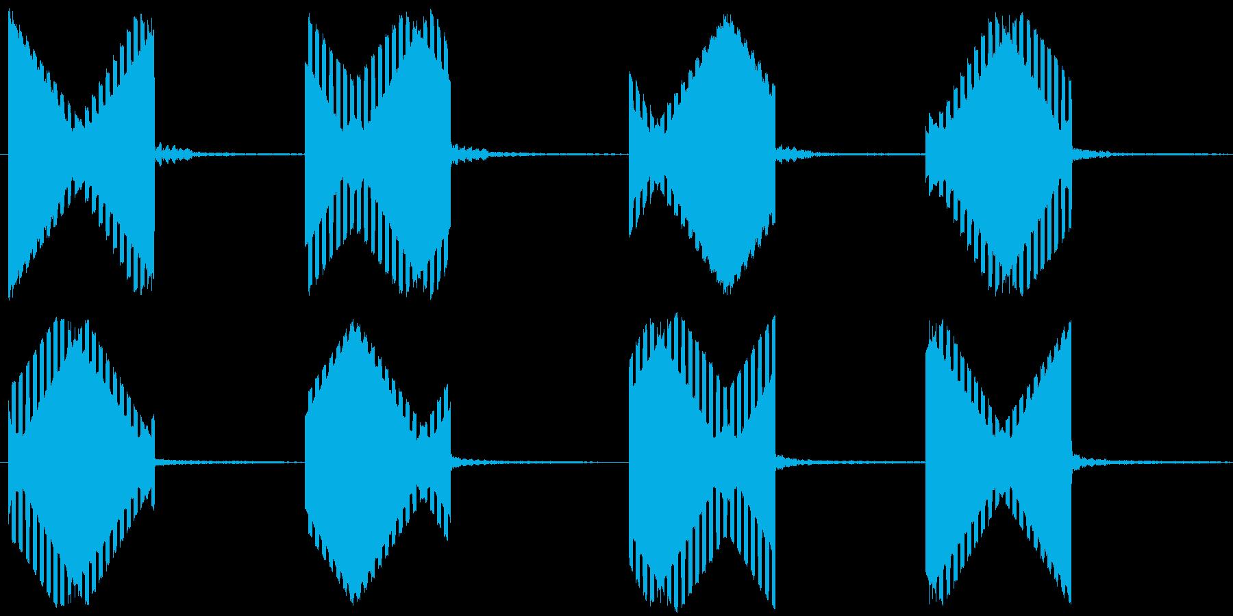 電話の音(固定電話)の再生済みの波形