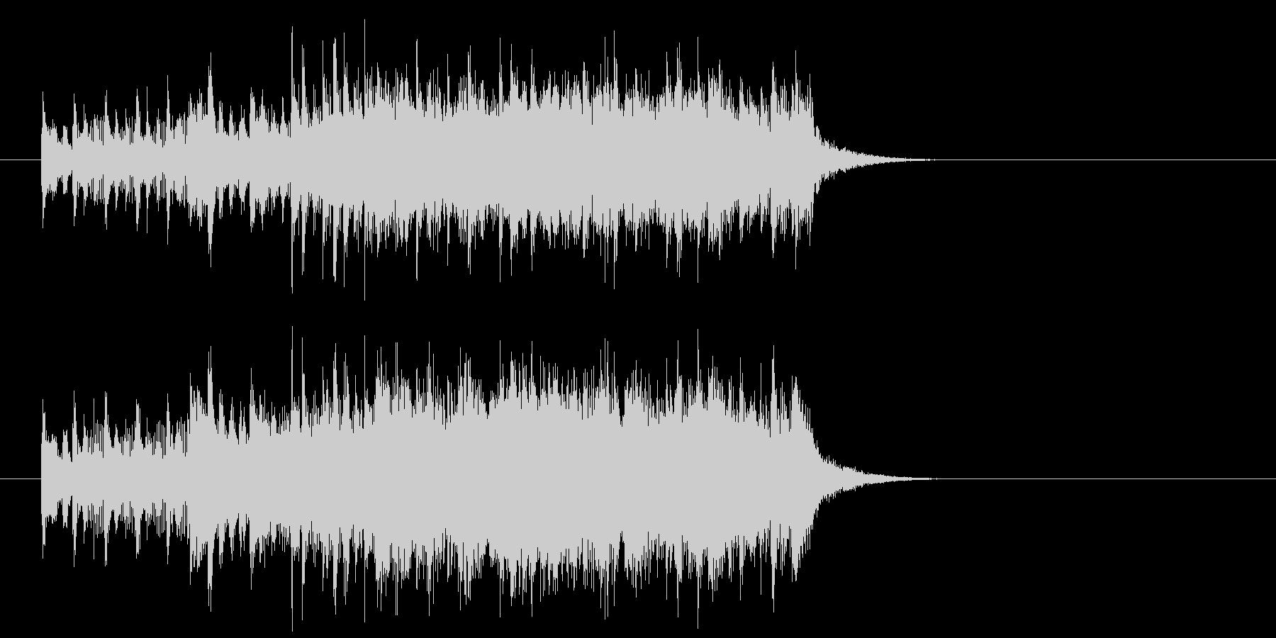 ジングル(バラエティー風)の未再生の波形