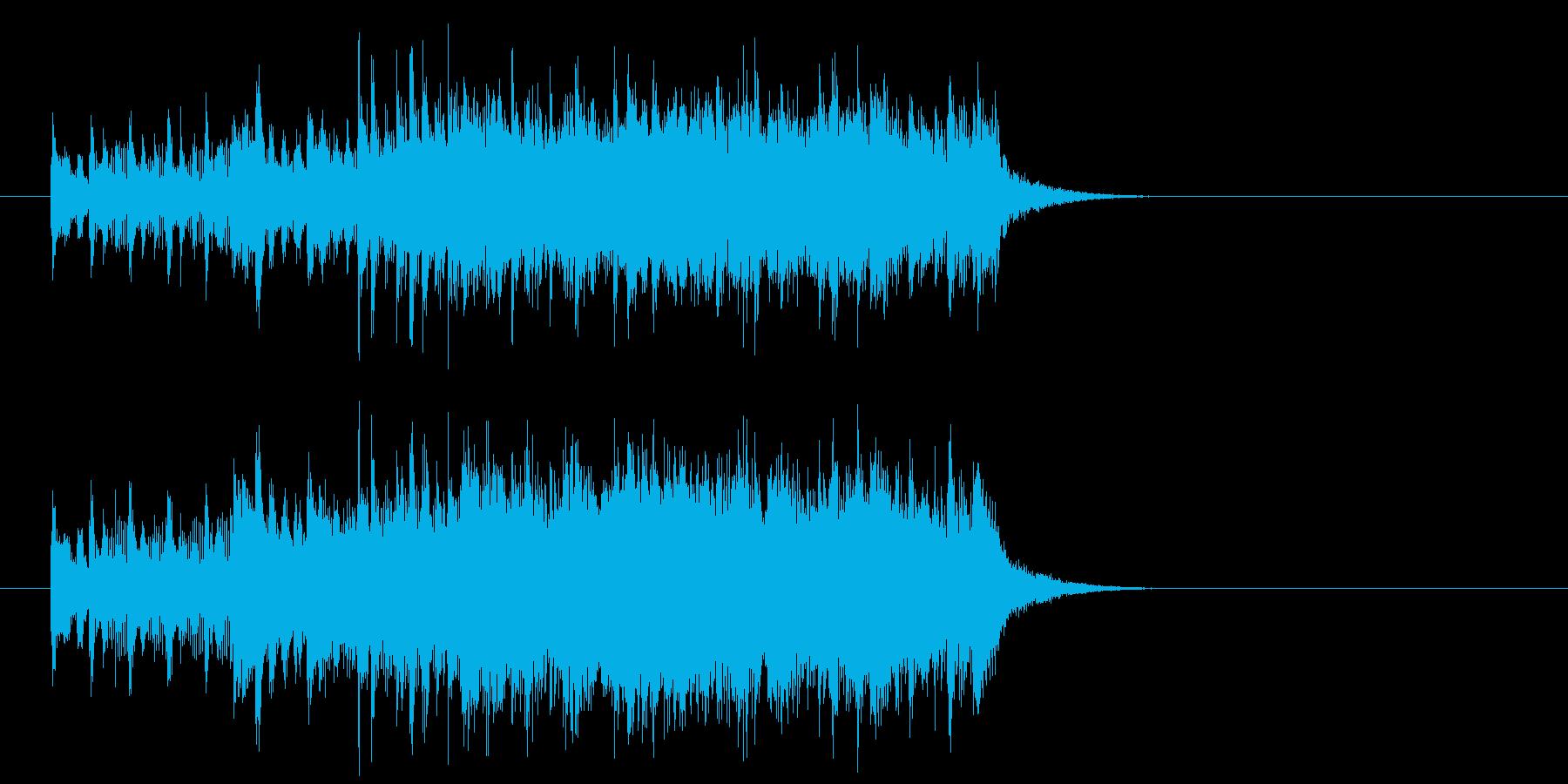 ジングル(バラエティー風)の再生済みの波形