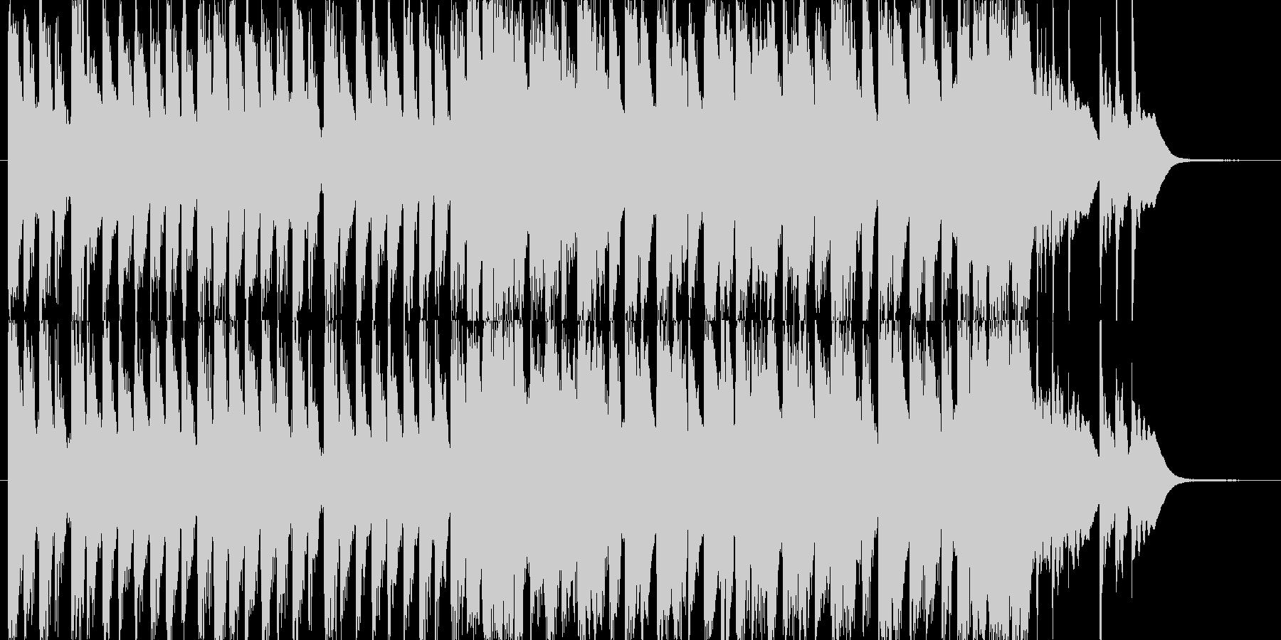 ポップでキュートなエレクトロニカの未再生の波形