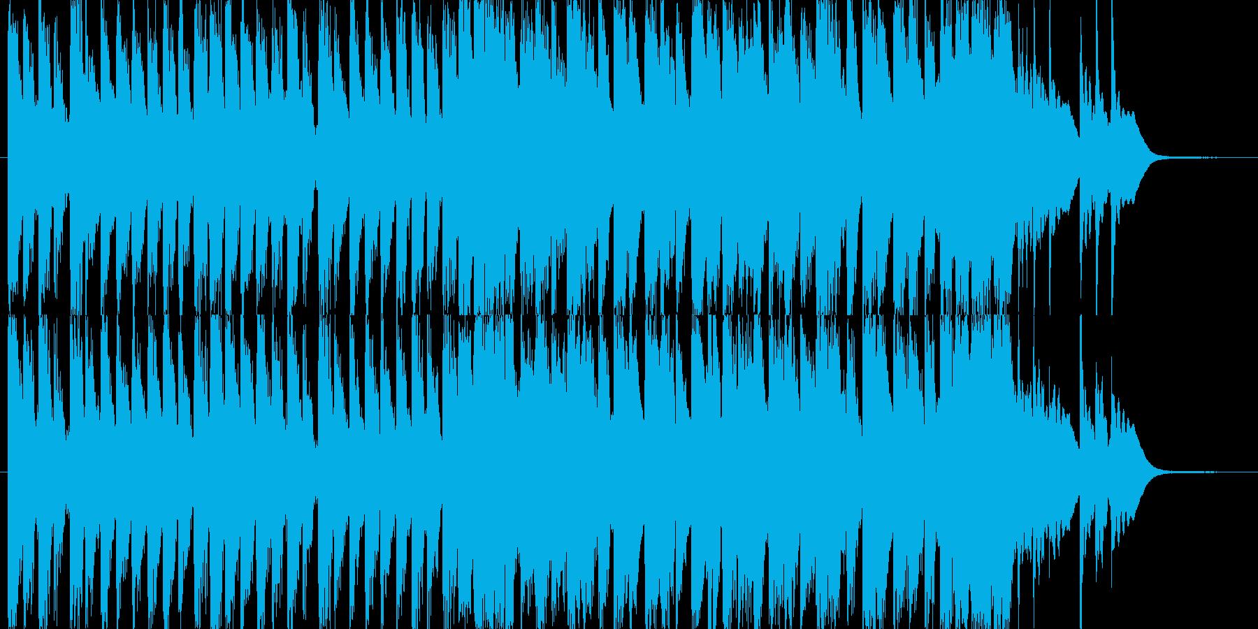 ポップでキュートなエレクトロニカの再生済みの波形