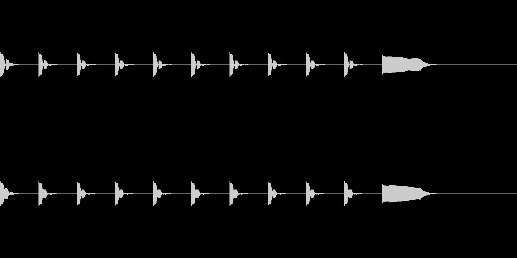 【カウントダウン01-4】の未再生の波形