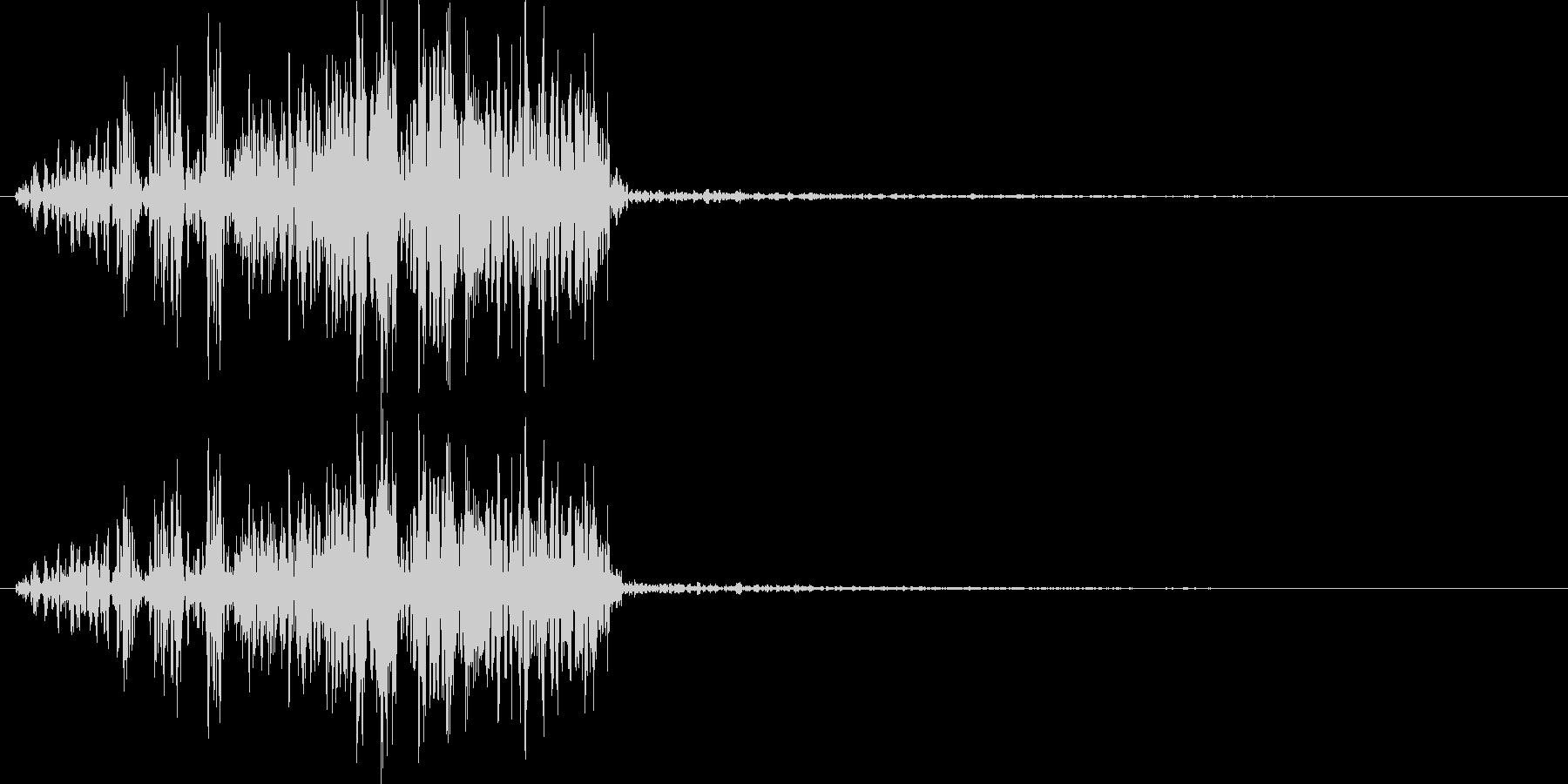 アフリカライオンの鳴き声(叫びに近い)の未再生の波形