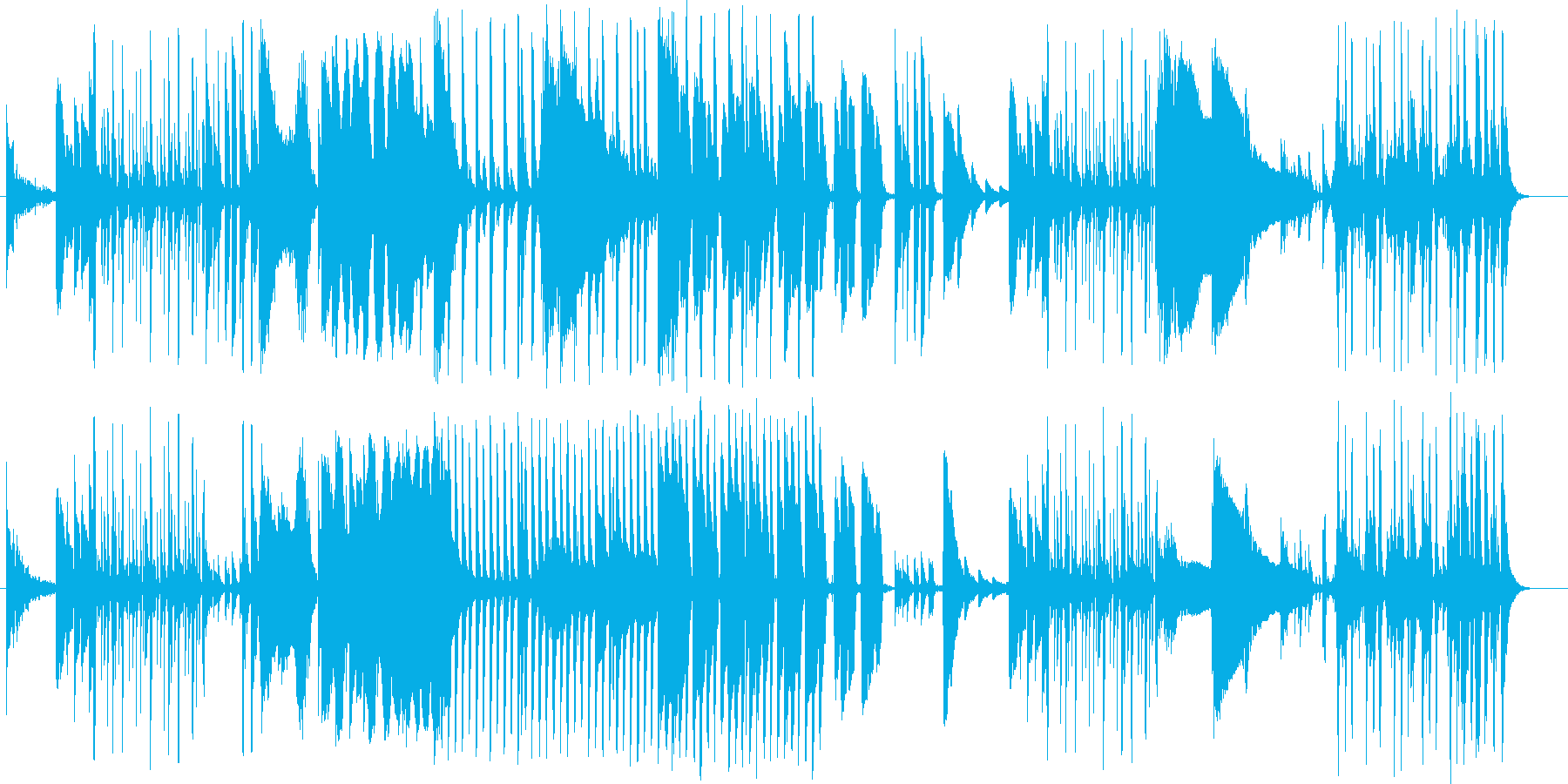 無機質に進む不思議なアンビエントの再生済みの波形