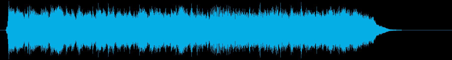 アコギが特徴的なロックのジングルの再生済みの波形