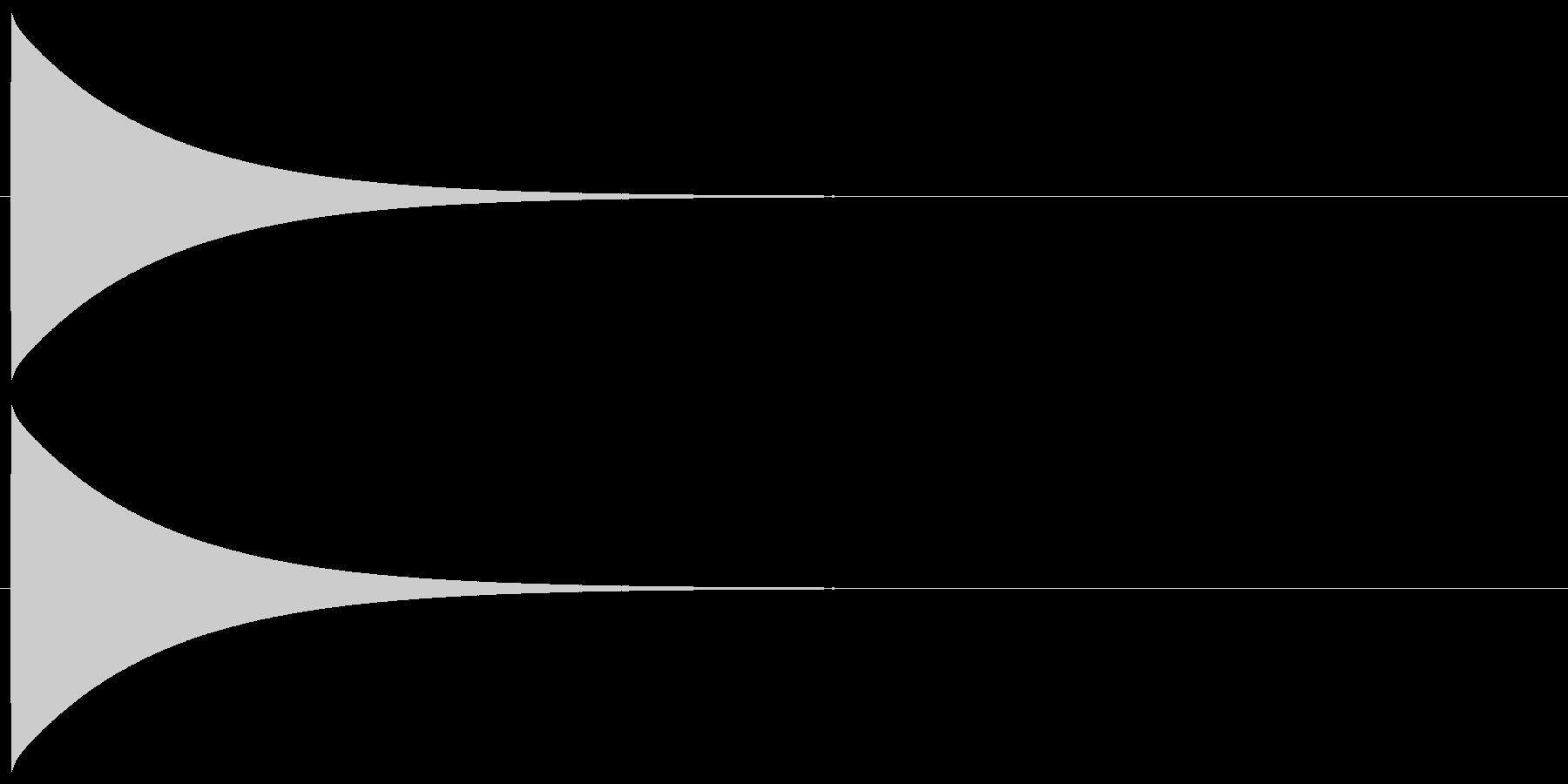 ピューン(落下音、短め)の未再生の波形