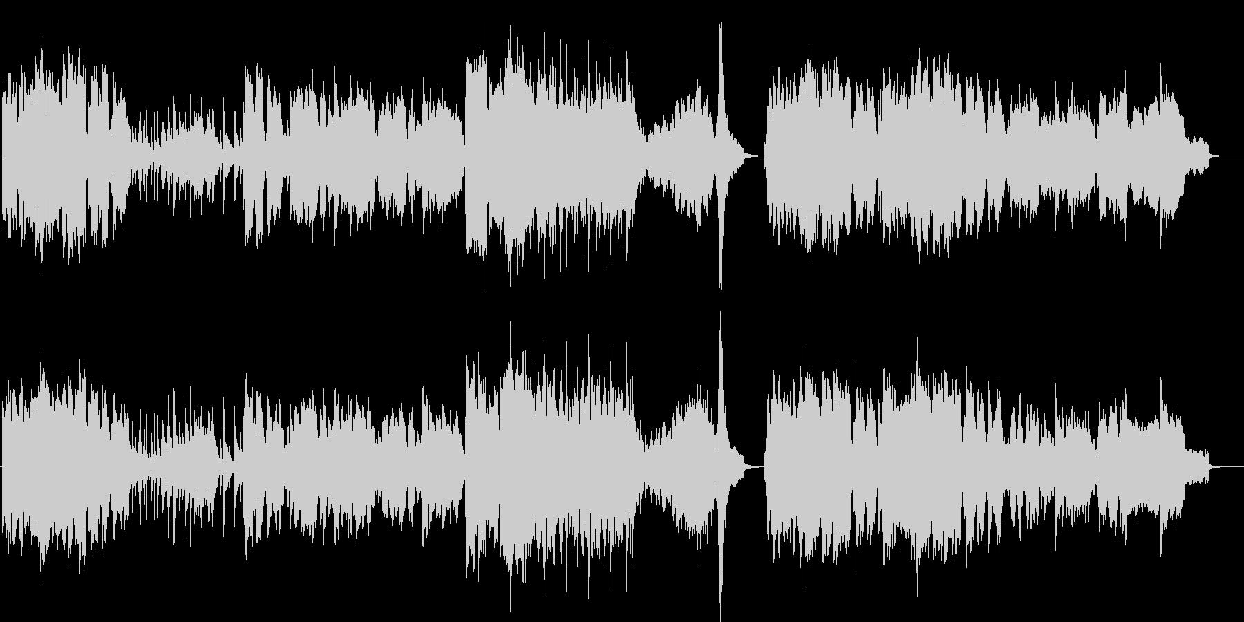 ドラマの感動的なシーンで流れるピアノ曲…の未再生の波形