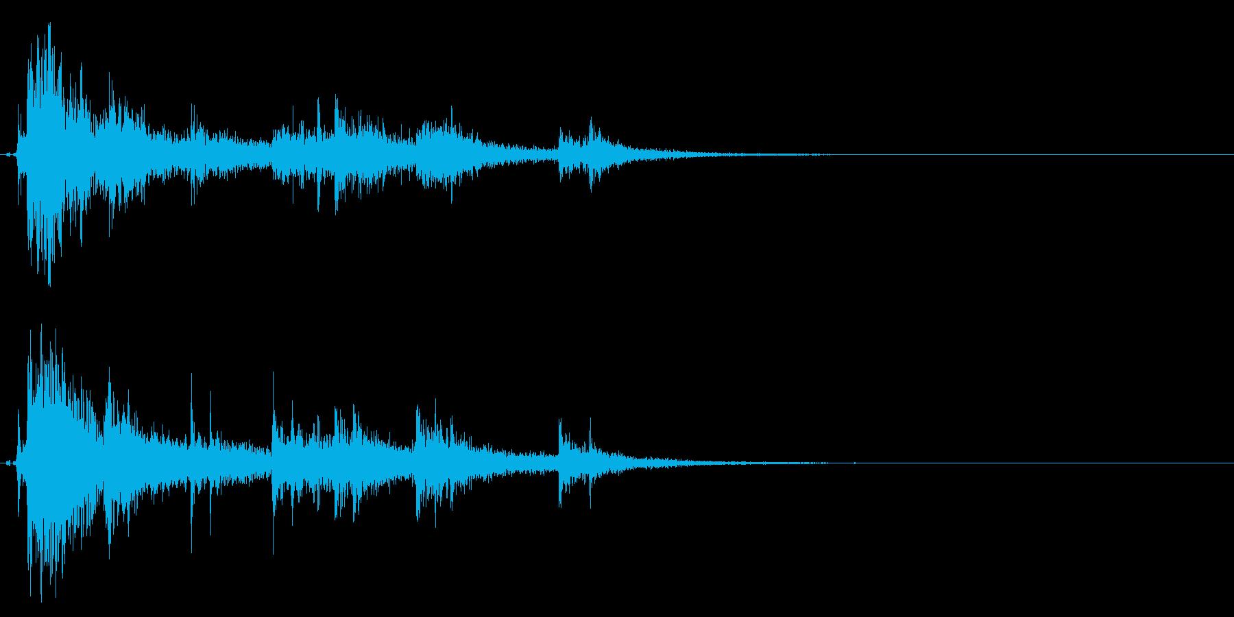 ドンパァ〜!本当にリアルな花火の効果音7の再生済みの波形