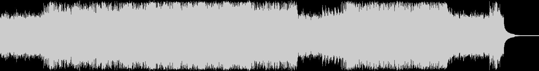 サスペンス調のシンプルなロックの未再生の波形