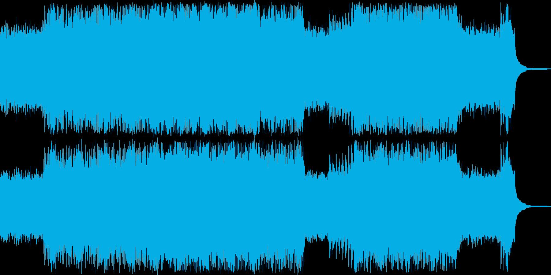 サスペンス調のシンプルなロックの再生済みの波形