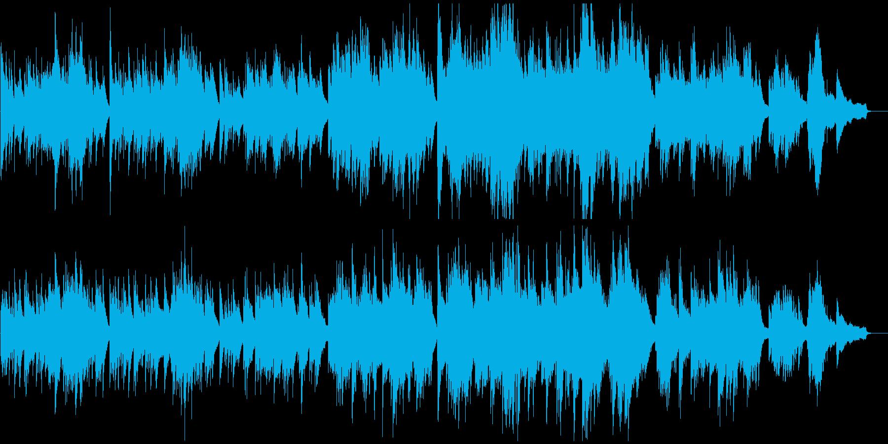 悲しい雰囲気のピアノソロの再生済みの波形