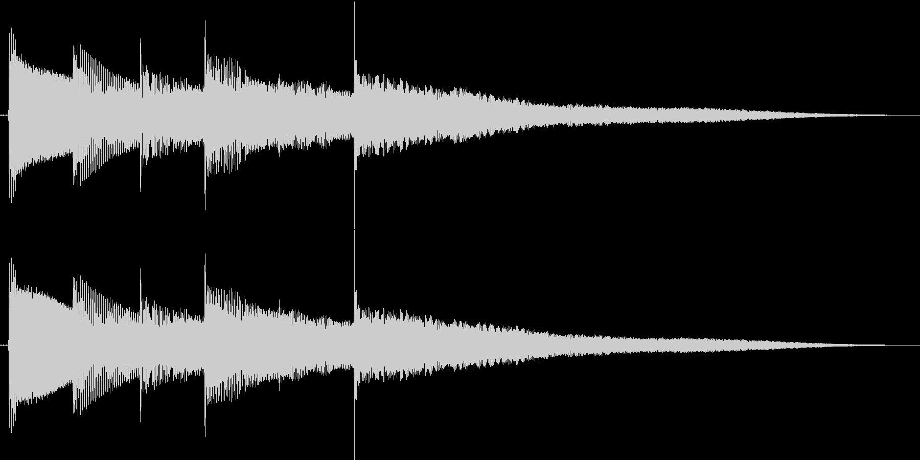 ベースハーモニクスのキレイなジングルの未再生の波形
