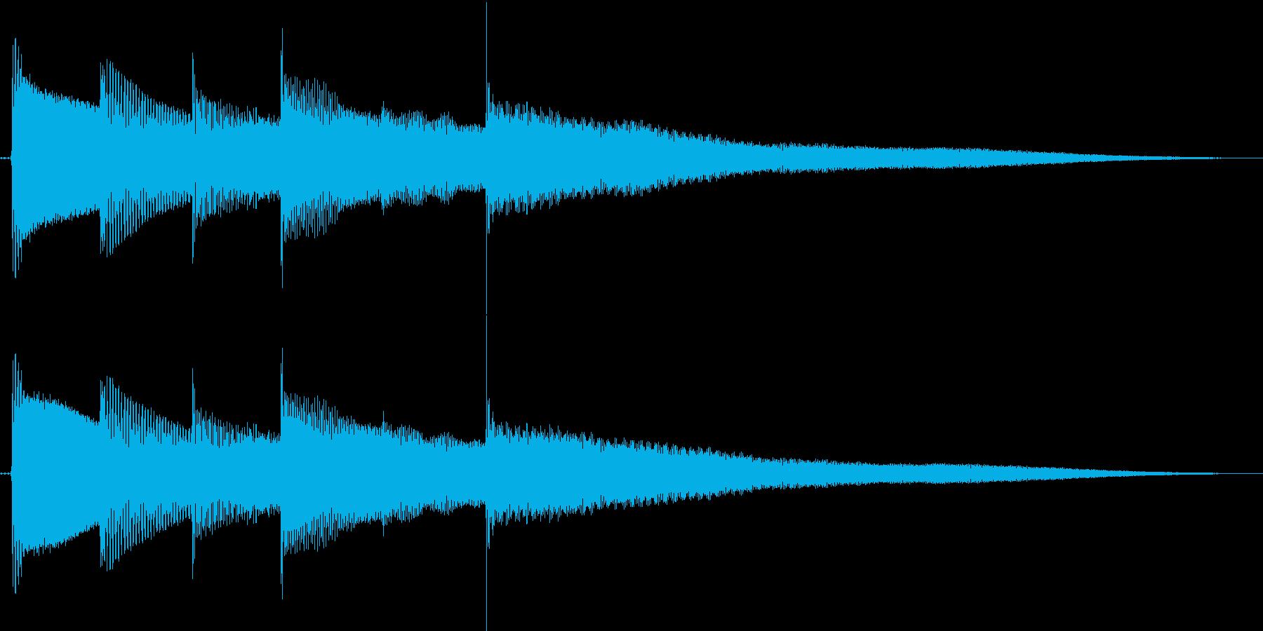 ベースハーモニクスのキレイなジングルの再生済みの波形