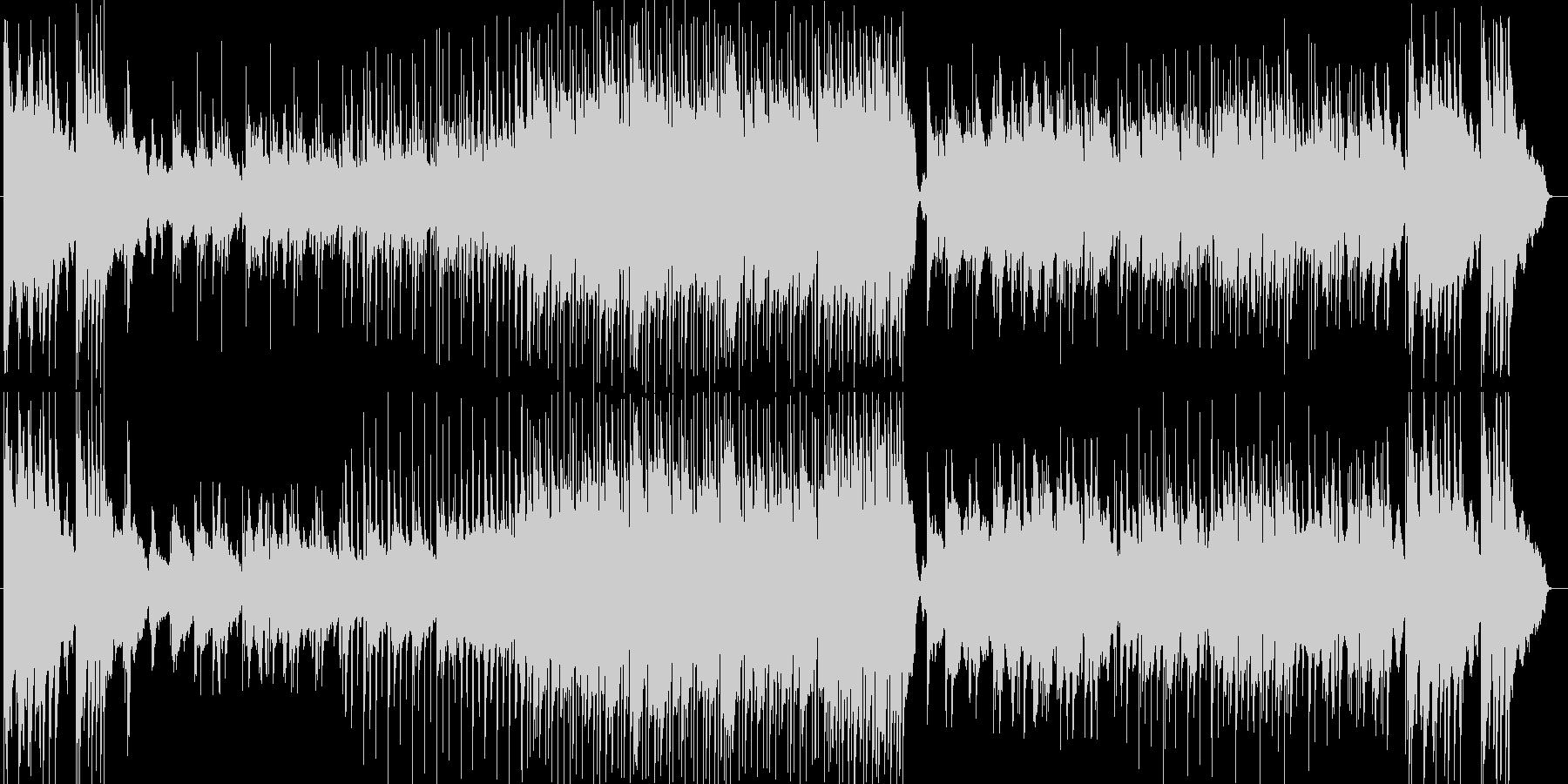 ドラマチックなシンセサイザー楽曲の未再生の波形
