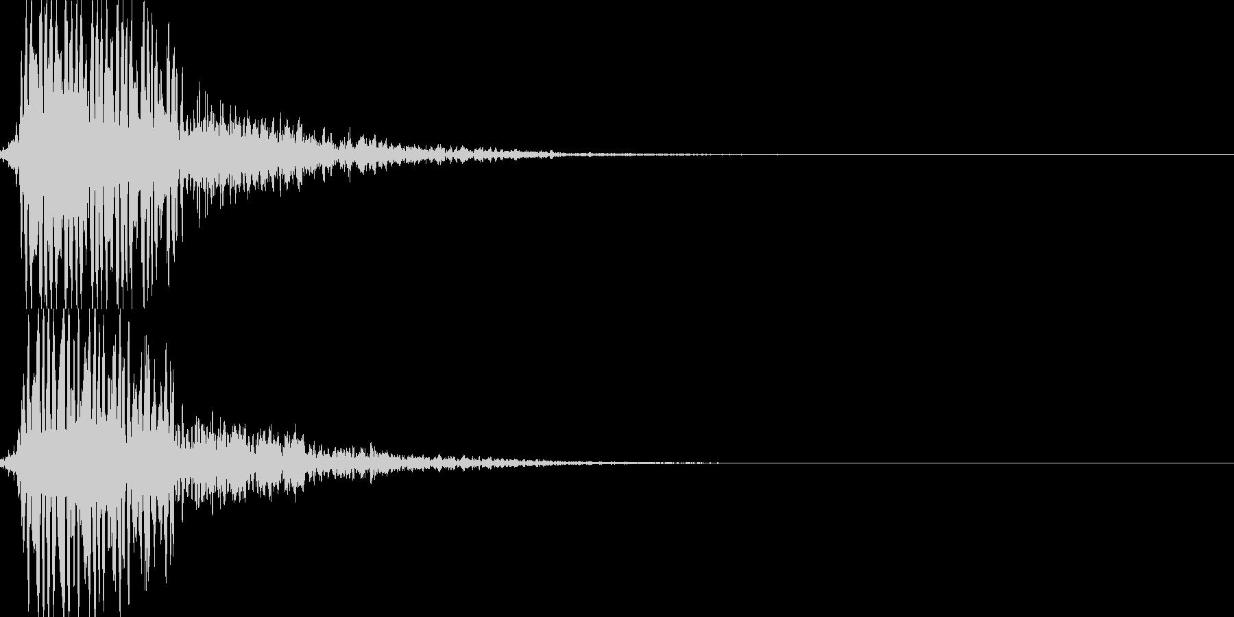 レーザー攻撃03の未再生の波形